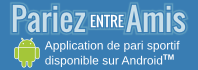 PariezEntreAmis, application de pari sportif gratuit